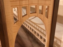 Curly Maple bridge arch